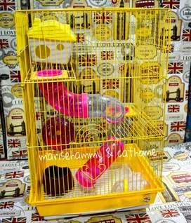 Kandang hamster 3 tingkat lorong