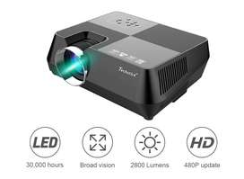 Techstick LED Projector 2800 Lumens 3.5mm Audio Support Full HD 1080P