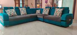 "JUST 6 MONTHS USED ""L-SHAPE"" SOFA SET 9 SEATER"