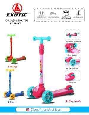 Mainan Anak Skuter Otopet Exotic ET HB 009 0