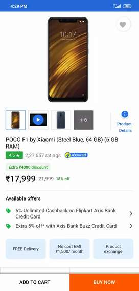 Poco F1 64rom and 6gb ram