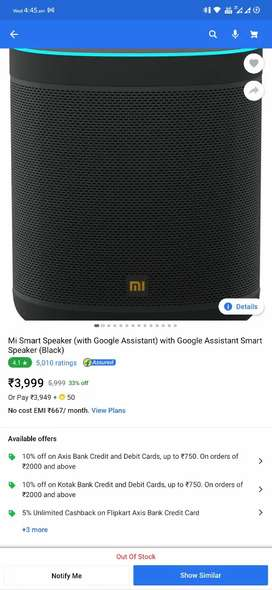 Sealpack Mi Smart Speaker with Google Assistant