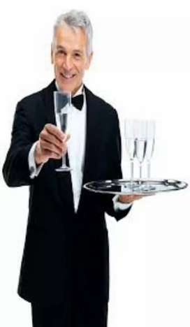 Waiters in restaurant urgent