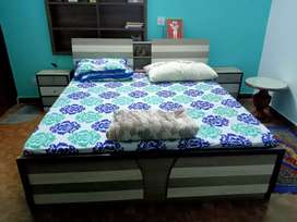 Bed with dressing table