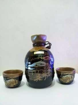 Sake set black japan