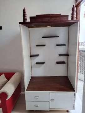 Wooden Mandir - 6' × 3' × 2'.