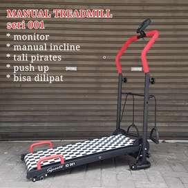Alat fitnes Treadmill manual satu fungsi harga grosir