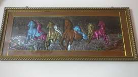 """wall painting of horses having size 43""""*18"""""""