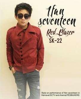 Blazer Maroon Casual Korean Style – SK22