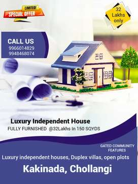 LuxuryFURNISHED 2BHKindependent house forsale in Kakinada@32Lakhsonly
