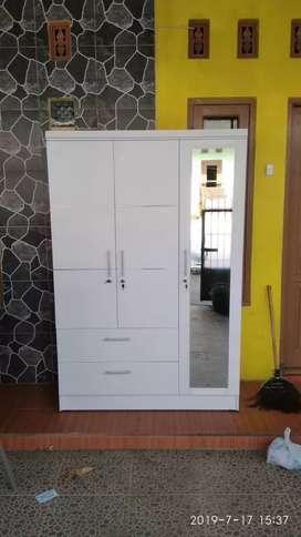 Open order lemari 3pintu cantik, bnyk macam warna model, byr cod ya,