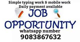 Typing work and mobile work