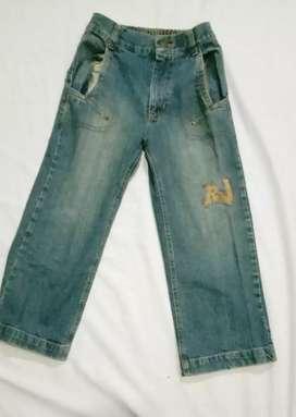 Celana jeans Anak Unisex RODEO JUNIOR Pinggang karet Untuk 6-8tahun