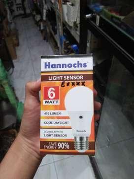 Lampu sensor hannochs 6 watt
