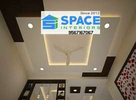 GYPSUM CEILING FALSE CEILING POP CEILING INTERIOR WORK