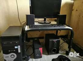 Computer( cpu, monitor, speaker, keyboard and mouse)