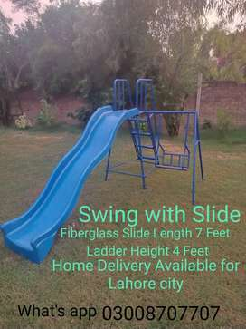 Fiberglass Swing with Slide ( Home Delivery)