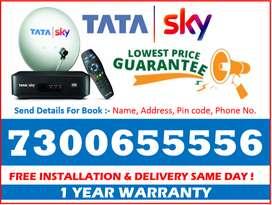 All India Lowest Price ~ Tata Sky HD - Tatasky, Airtel, Dishtv ~Book!