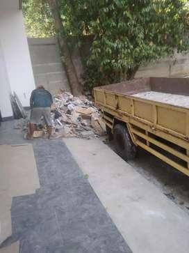 Angkut puing sampah bekas proyek rumah tangga