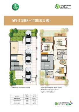 2BHK LUXURY FLO0RS SIGNATURE GLOBAL PARK SOHNA SECTOR 36 GURUGAON