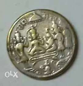 620 years old Powerful Sree Rama Pattabhisheka coin