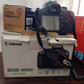 Canon 4000d // with Yongnuo 50mm lense// 10/10 condition.
