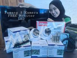 PASANG CCTV PAKET 8 CH GRATIS 1 UNIT MONITOR LED
