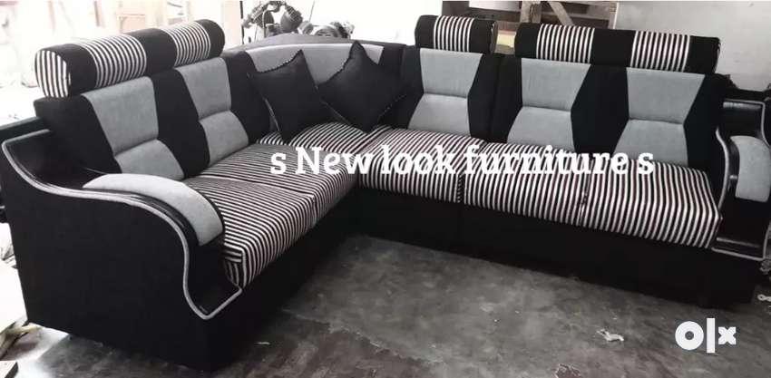 Full kushion corner sofa all type model available