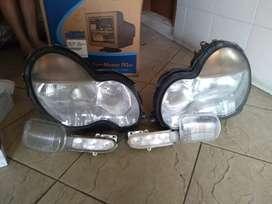 Lampu depan mercy original c200-240 tahun 1998s/d2003