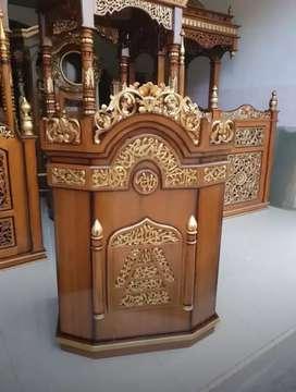 mimbar masjid model biasa mewah