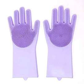 Silicone Dish Washing Hand Gloves for Cleaning, Kitchen, Car, Bathrom