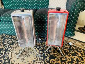 Red and black electric heater