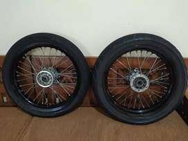 Wheelset Supermoto Klx Ori copotan Dtracker