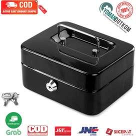 250A Kotak Brankas Uang Perhiasan Cash Safebox Key Lock 25x20x9CM