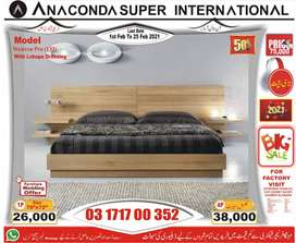 SINGLE BED < DOUBLE BED SET> KING SIZE DOUBLE BED WOOD FURNITURE