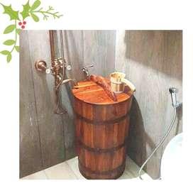Bak mandi unikcantik minimalalis jati jawa