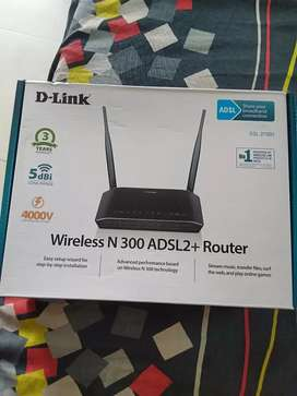D Link Wireless N300ADSL2 +Router