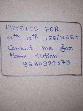 I teach physics for 11th &12th NEET/JEE.