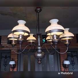 Lampu gantung antik kuningan joglo pendopo gazebo masjid lawasan antik