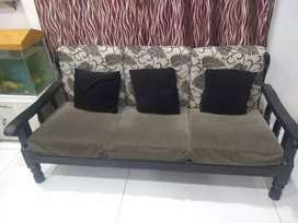 Sturdy Sag wood Sofa set (5 items) , with Center table