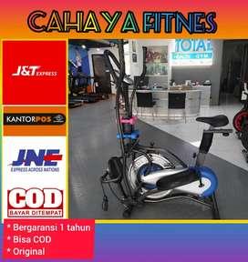 Alat fitnes gym sepeda statis promo murah Orbitrek platinum bike