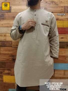 Gamis Kurta Oblong Lengan Panjang - Gamis Muslim Pria