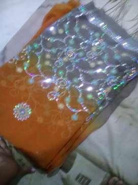Synthetic work saree