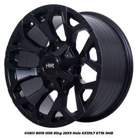 VELG MOBIL TYPE GOKU HSR WHEEL R20X9 PCD6X139,7 BLACK BUAT HILUX DC