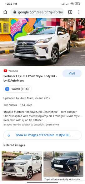 Fortuner LX Style Body Kit Front Bumper Drl