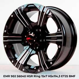 velg hsr wheel 2020 Nekala 56040 HSR R15X7 H5X114,3 ET25 BMF