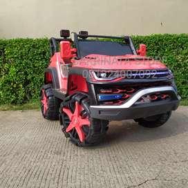Mainan mobil aki anak murah jeep warwolf pintu elektrik
