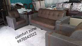 Sofa set very low price with shwed fabric