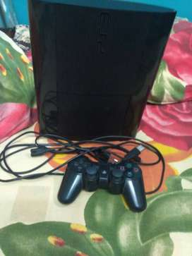 Black Sony PS3 Game Console With Black Controller