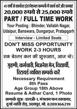 Part-time job opportunity